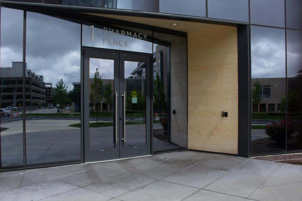 doors to office building