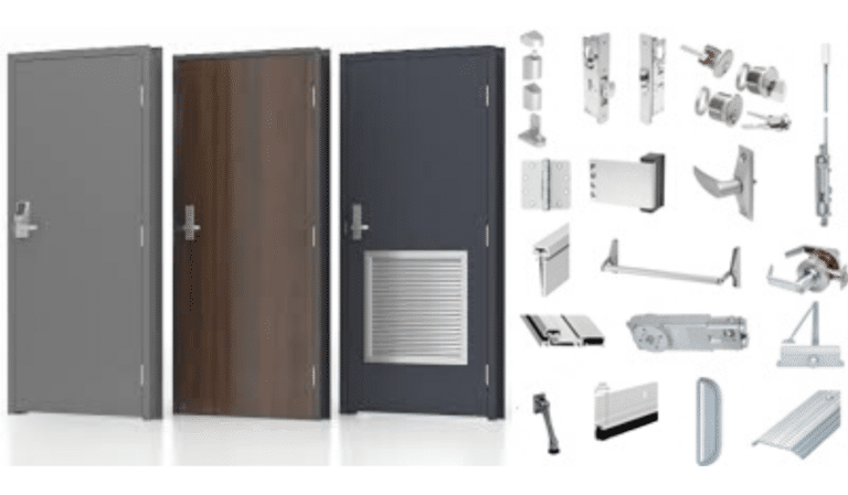 variety of doors and door hardware